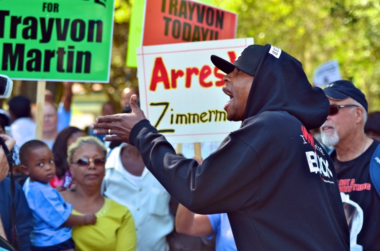 Civil Rights Activists Join Protest Rally And Town Hall Mtg On Killing Of Trayvon Martin