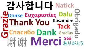 Thank you in many languages
